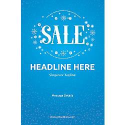 Custom Poster Sale Snowflakes Vertical
