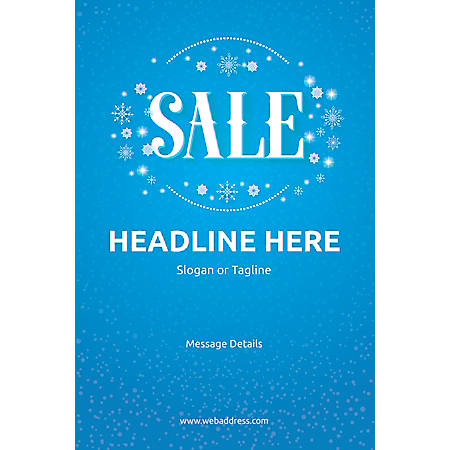 Custom Poster, Sale Snowflakes, Vertical