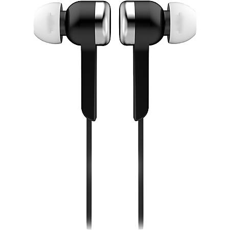 Supersonic Digital Stereo Earphones - Stereo - Black - Wired - Earbud - Binaural - In-ear - 4 ft Cable