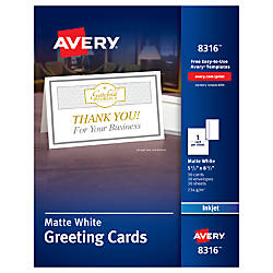 avery half fold textured greeting cards 5 12 x 8 12 matte