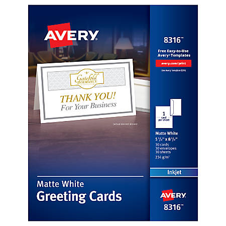 Greeting Note Cards at Office Depot – Avery Invitation Card Stock