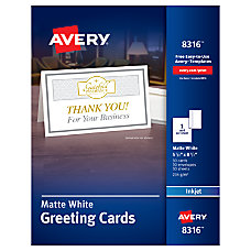 Avery Half Fold Textured Greeting Cards