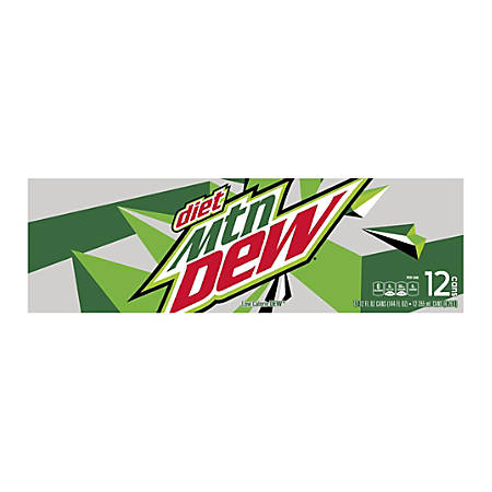 Diet Mountain Dew, 12 Oz, Pack Of 12 Cans