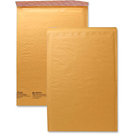 "Sealed Air JiffyLite Cellular Cushioned Mailers - Bubble - #5 - 10 1/2"" Width x 16"" Length - Peel & Seal - Kraft - 25 / Carton - Kraft"