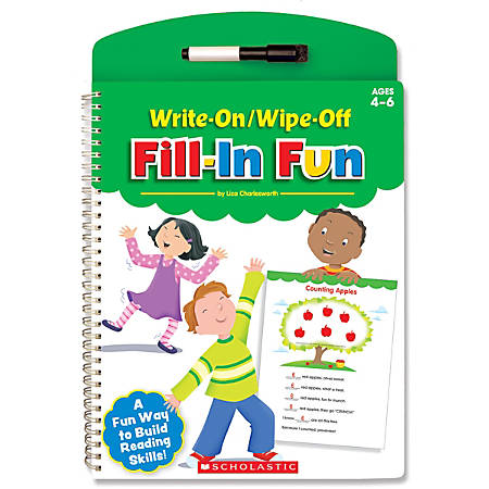 Scholastic Write-On/Wipe-Off Book, Fill-In Fun, Preschool - Grade 1