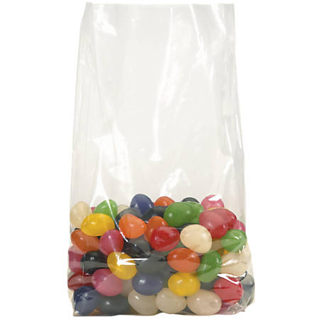 """Office Depot Brand 2 Mil Gusseted Poly Bags 4"""" x 2"""" x 20"""", Box of 1000"""