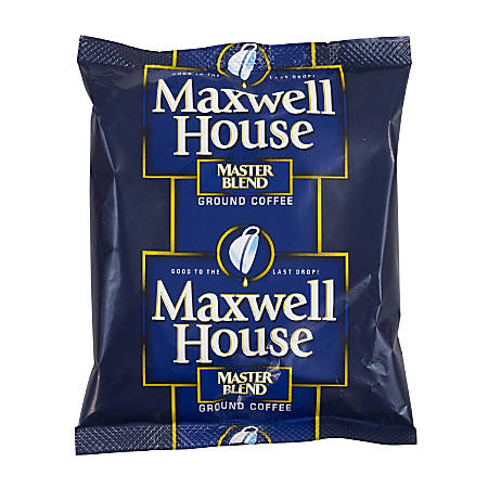 Maxwell House Master Blend Ground Coffee, 1.25 Oz, Pack Of 42 Bags
