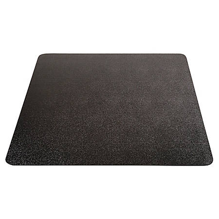 "Deflect-O® Chair Mat For All-Day Use On Hard Floors, 36"" x 48"", Black"
