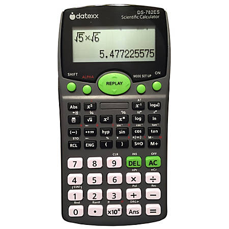 Datexx DS-782ES 2-Line Scientific Calculator with Natural Textbook Display