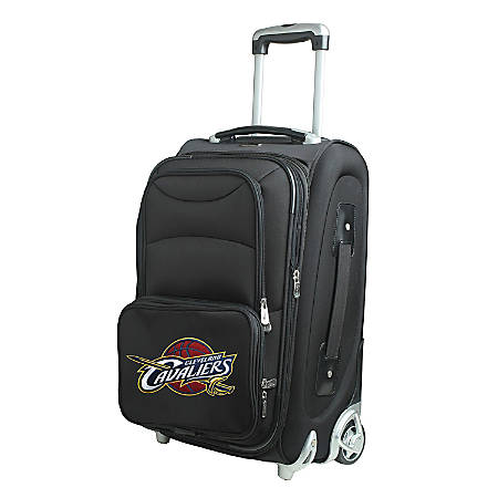 """Denco Nylon Expandable Upright Rolling Carry-On Luggage, 21""""H x 13""""W x 9""""D, Cleveland Cavaliers, Black"""