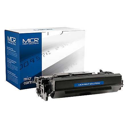 Clover Imaging Group MCR87XM High-Yield MICR Toner Cartridge Replacement For HP 87X Black