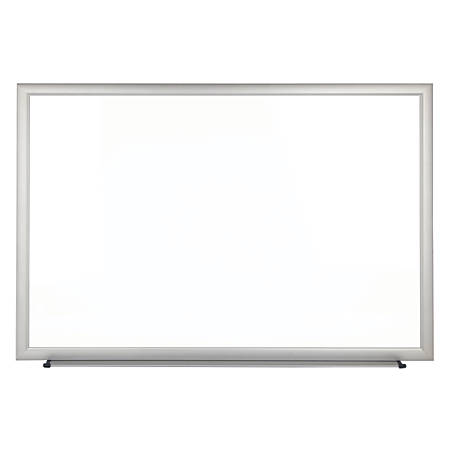 """FORAY™ Magnetic Dry-Erase Boards With Aluminum Frame, Melamine Board, 48"""" x 72"""", White Board, Silver Frame"""