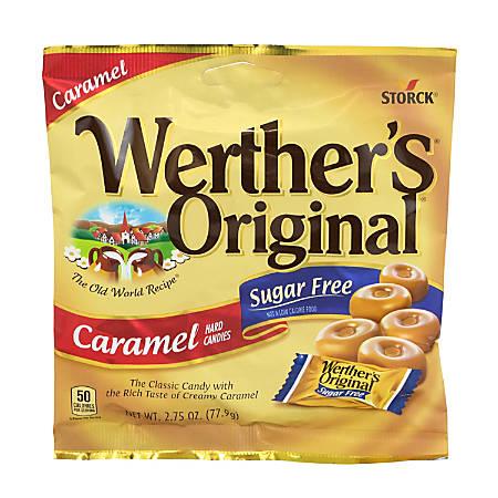 Werther's Original Sugar-Free Caramel Hard Candies, 2.75 Oz, Pack Of 3 Bags