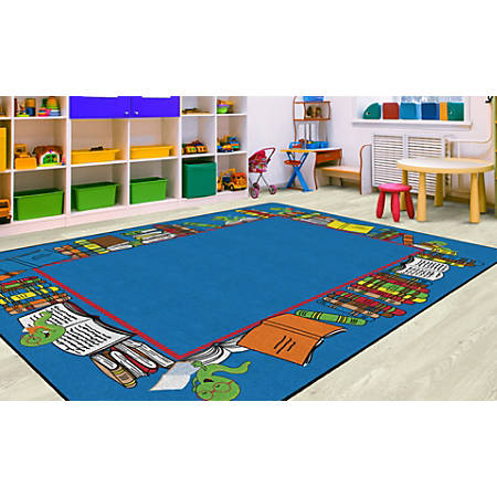 "Flagship Carpets Bookworm Border, Rectangle, 10' 9"" x 13' 2"", Multicolor"