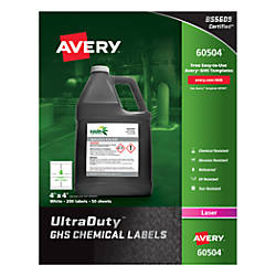 Avery UltraDuty GHS Chemical Labels AVE60504