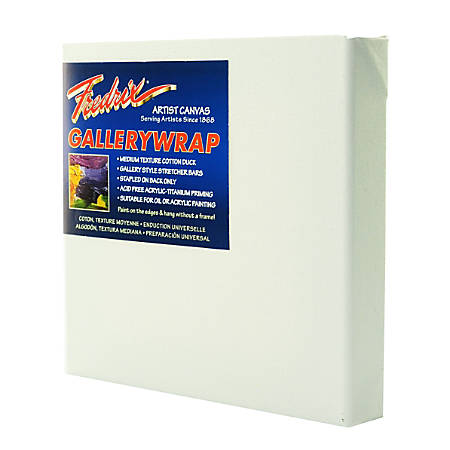 """Fredrix Gallerywrap Stretched Canvases, 10"""" x 10"""" x 1"""", Pack Of 2"""