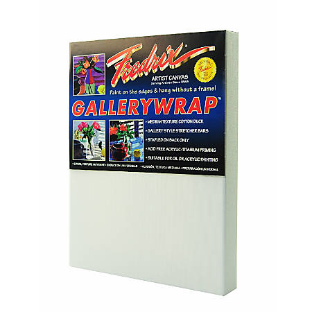 """Fredrix Gallerywrap Stretched Canvases, 8"""" x 10"""" x 1"""", Pack Of 2"""