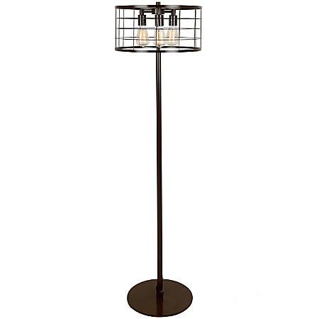 Lumisource Indy Wire Industrial Floor Lamp, Antique Black