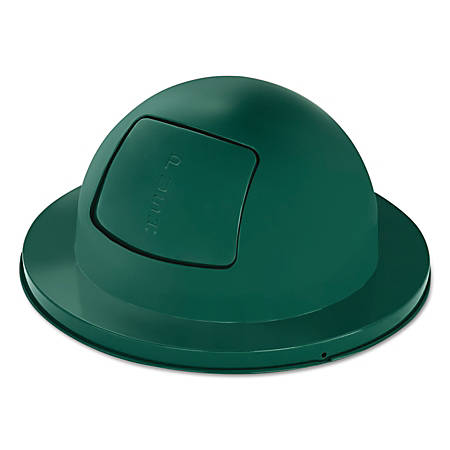 """Rubbermaid® Commercial Towne Series Steel Dome-Top Waste Receptacle Lid, 11"""" x 21"""", Green"""