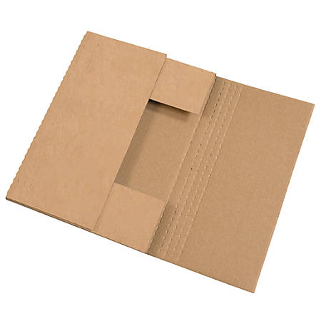 "Office Depot® Brand Easy Fold Mailers, 15"" x 11 1/8"" x 6"", Kraft, Pack Of 50"