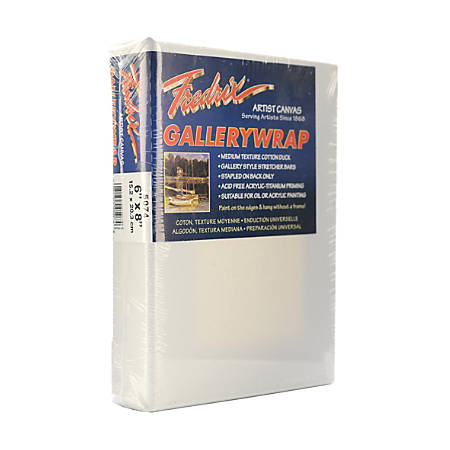 """Fredrix Gallerywrap Stretched Canvases, 6"""" x 8"""" x 1"""", Pack Of 2"""