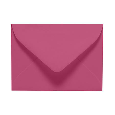 "LUX Mini Envelopes With Moisture Closure, #17, 2 11/16"" x 3 11/16"", Magenta, Pack Of 500"