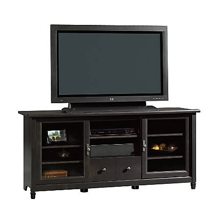 "Sauder Edge Water Entertainment Credenza TV Stand For TVs Up To 55"", Estate Black"