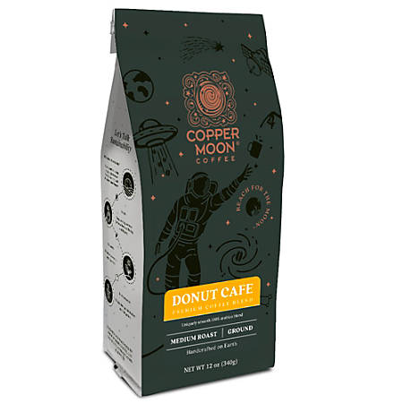 Copper Moon Coffee Ground Coffee, Donut Café Blend, 12 Oz