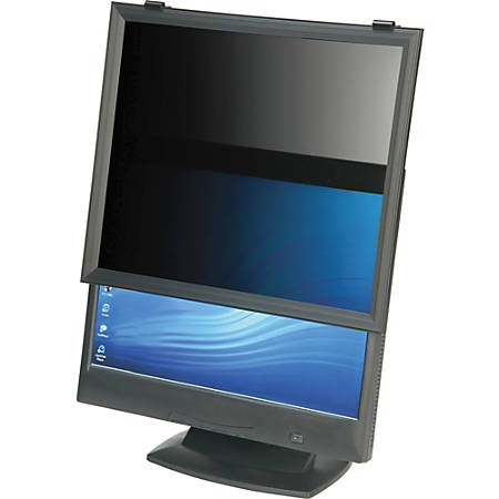 "SKILCRAFT Framed Privacy Shield Privacy Filter Black - For 24""LCD Monitor"