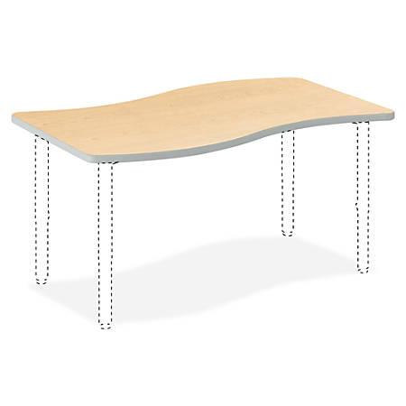 "HON® Build Series Ribbon-Shape Table Top, 1 1/8""H x 54""W x 30""D, Maple"