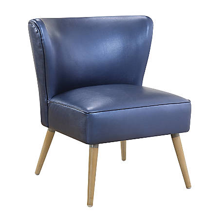 Ave Six Amity Chair, Side, Sizzle Azure/Light Brown/Gold
