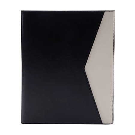 See Jane Work® Faux Leather Portfolio, Black/Tan