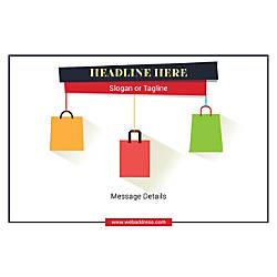 Customizable Window Decal Horizontal Shopping Bags
