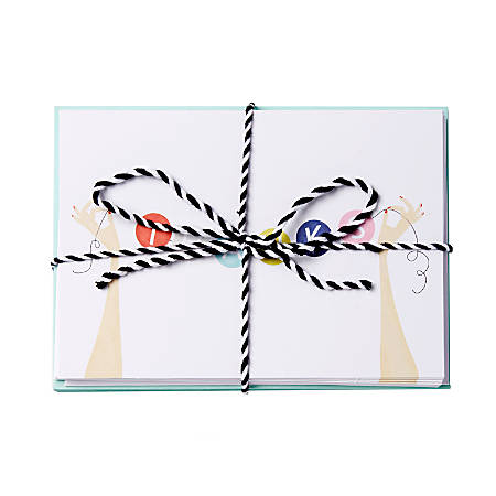 """Sincerely A Collection by C.R. Gibson® Baker's Twine Note Cards With Envelopes, 6"""" x 4 1/4"""", Thanks Banner, Blank Inside, Bag Of 8"""