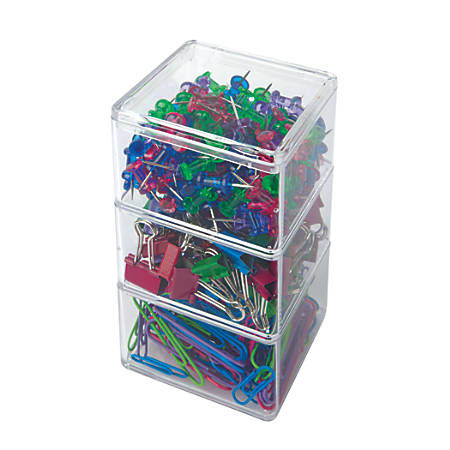 Office Depot® Brand Stackable Clip Kit, Assorted Colors