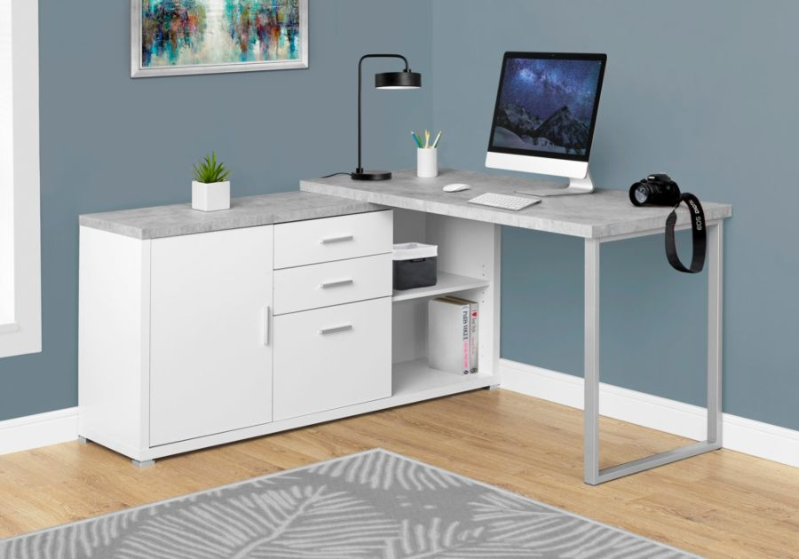 Monarch Specialties L Shaped Particleboard Computer Desk With