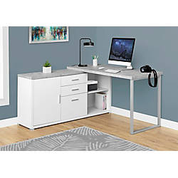Monarch Specialties L Shaped Particleboard Computer Desk