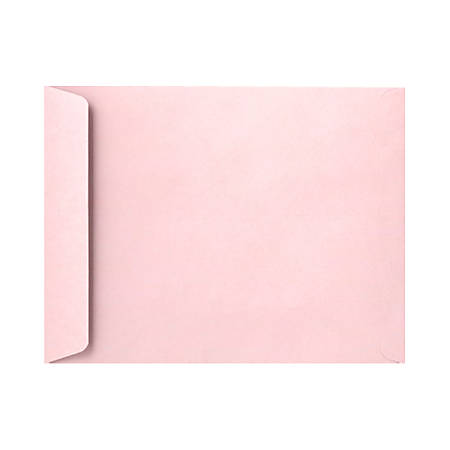 """LUX Open-End Envelopes With Peel & Press Closure, 10"""" x 13"""", Candy Pink, Pack Of 250"""