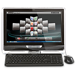"MSI™ AE2220-66SUS All-In-One Desktop Computer With Intel® Pentium® Processor T4500, 21.5"" Touch-Screen LCD"