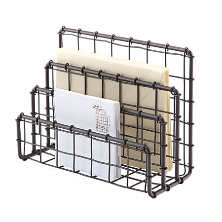 """See Jane Work® Wire Letter Sorter, 3""""H x 7""""W x 5""""D, Rustic Bronze"""
