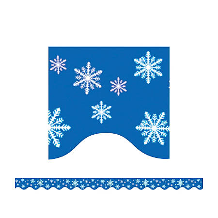 "Teacher Created Resources Border Trim, 2 3/16"" x 35"", Snowflakes, Pre-K - College, Pack Of 12"