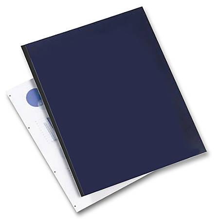 """GBC® Square Corner Binding Covers, 8 1/2' x 11"""", Navy, Box Of 200"""