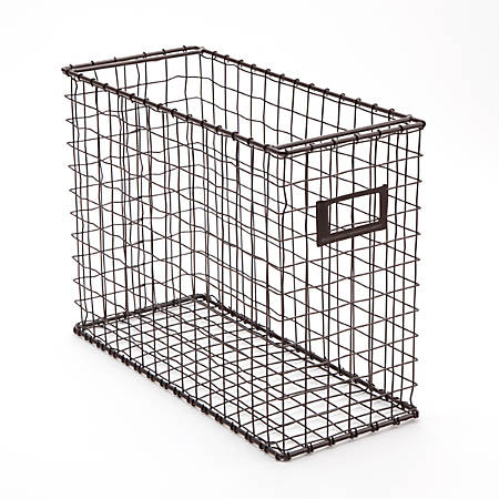 """See Jane Work® Rustic Bronze Wire File Holder, 10""""H x 5 1/2""""W x 13 1/2""""D"""