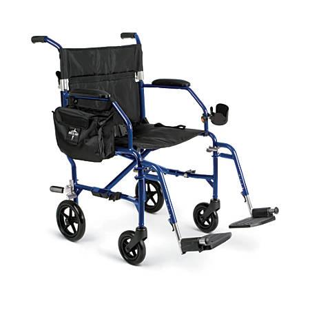 Medline Ultralight Freedom 2 Transport Chair, Blue