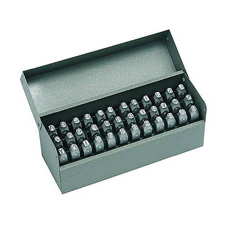 Standard Steel Hand Stamp Sets, 1/4 in, 0 thru 8; A thru Z