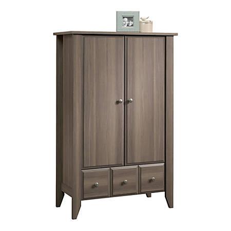 Sauder® Shoal Creek Armoire Storage Cabinet, Diamond Ash