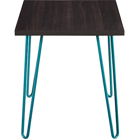 Ameriwood™ Home Owen Retro End Table, Square, Espresso/Teal