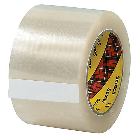 "3M® 311 Carton Sealing Tape, 3"" x 110 Yd., Clear, Case Of 24"