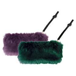 Office Depot® Brand Faux Fur Pencil Pouch, Assorted Colors
