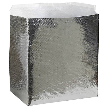 """Office Depot® Brand Insulated Box Liners, 18""""H x 18""""W x 24""""D, Silver, Case Of 10"""
